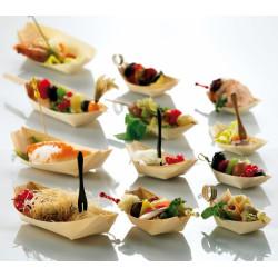 ladychef Finger food Piroga per finger food in legno. Confezione 50 pezzi.