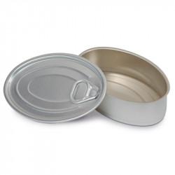 ladychef Finger food Scatoletta tapas ovale in latta con coperchio. Confezione 10 pezzi.