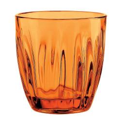 ladychef Tazze & Bicchieri Set 12 Bicchieri Acqua, Modello Aqua Arancione