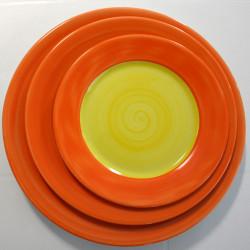 ladychef Porcellana Piatti serie Doppel Yellow