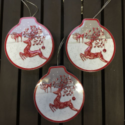 ladychef Natale Set 3 decorazioni da appendere