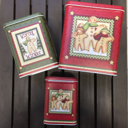 ladychef Natale Set 3 scatole quadrate