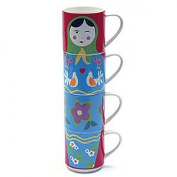 ladychef Mug Set 4 mug Babushka