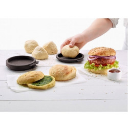ladychef Impasti Set 5 stampi Mini Burger Bread