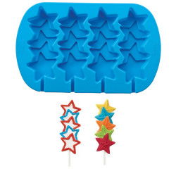 ladychef Forme in silicone Stampo silicone Star Pops