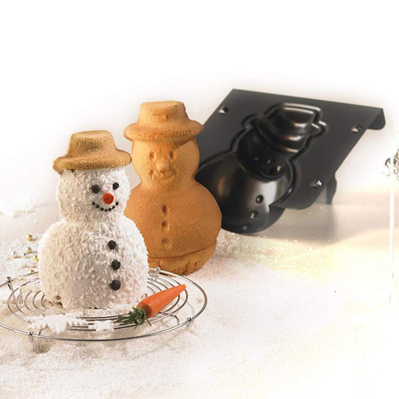 ladychef Teglie e Forme Stampo 3D pupazzo di neve
