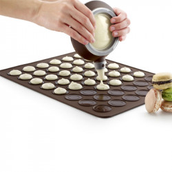 ladychef Forme in silicone Tappetino macaron, in silicone marrone