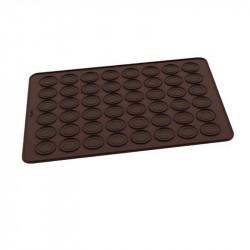 ladychef Torte e Monoporzioni Tappetino macaron, in silicone marrone