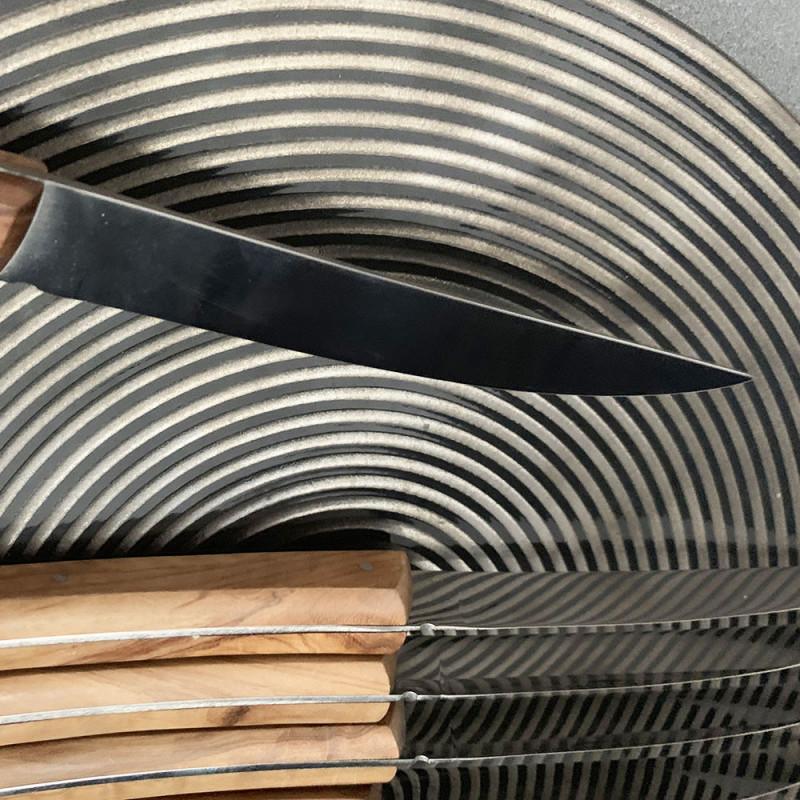 ladychef Posateria Set 6 coltelli in acciaio e legno d'ulivo