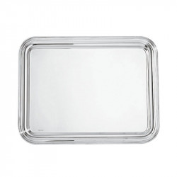 Rectangular tray in nickel...