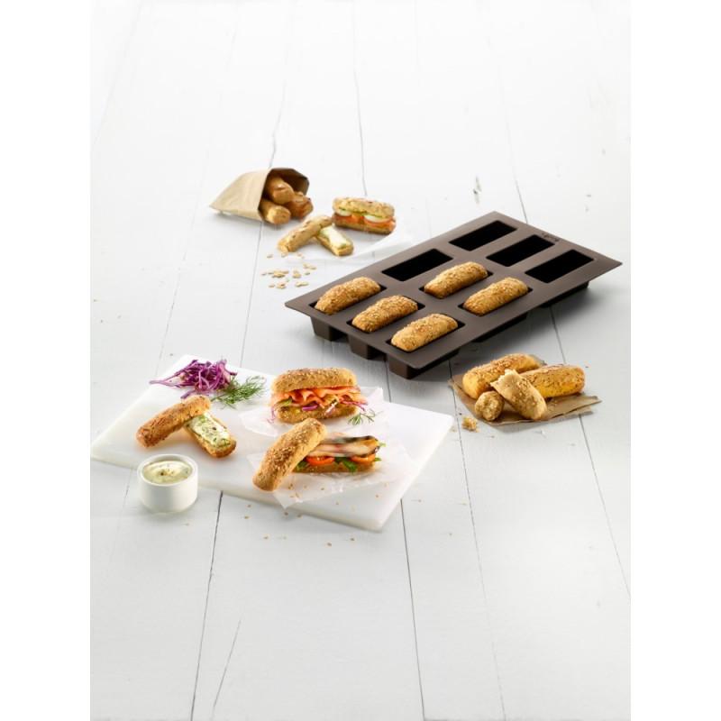 ladychef Torte e Monoporzioni Stampo 9 mini pagnotte in silicone