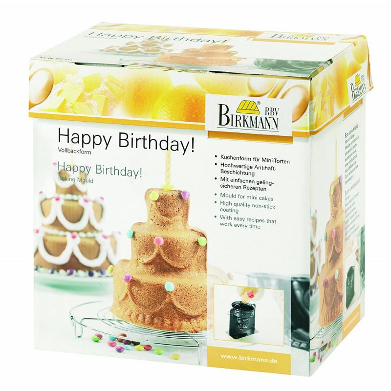 ladychef Teglie e Forme Stampo 3D Torta di Compleanno Happy Birthday