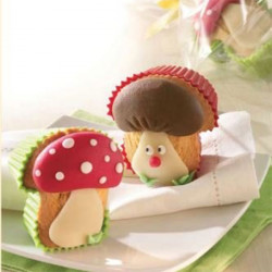 ladychef Forme in silicone Set 4 stampi muffin forma fungo