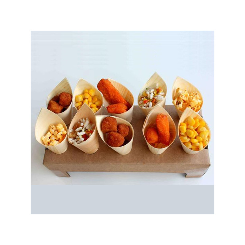 ladychef Finger food Set 50 coni in legno