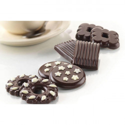 ladychef Stampi silicone Stampo 8 Choco Biscuits