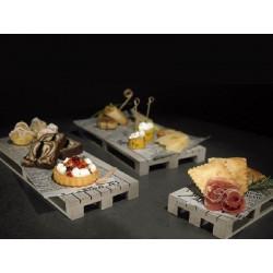 ladychef Vassoi & Taglieri Bancalino da tavola bianco .