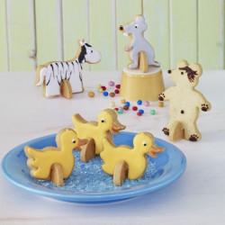 ladychef Teglie e Forme Stampi biscotti Stand Up animali set 5pz