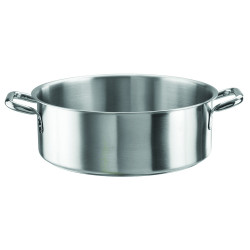 Low casserole with 2 handles