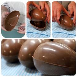 ladychef Stampi in policarbonato Stampo per uova di cioccolato in policarbonato
