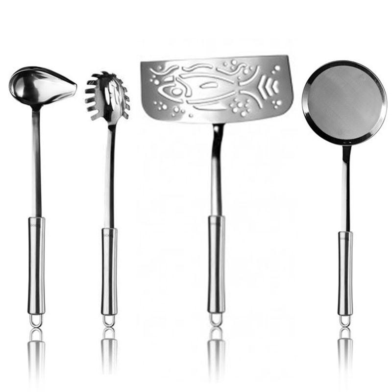 Set mestoli 4 pezzi acciaio for Set mestoli cucina