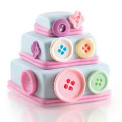 ladychef Monoporzioni Stampo 6 Mini Wonder Cakes quadrate