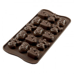 ladychef Stampi silicone Stampo Choco Winter 15 forme